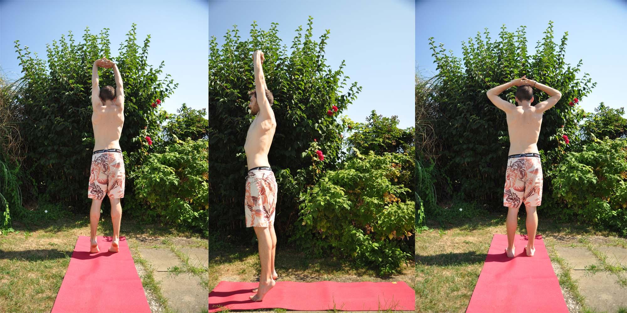 Tadasana, la posture du palmier, est la 1ère posture de ce lavage yogique.