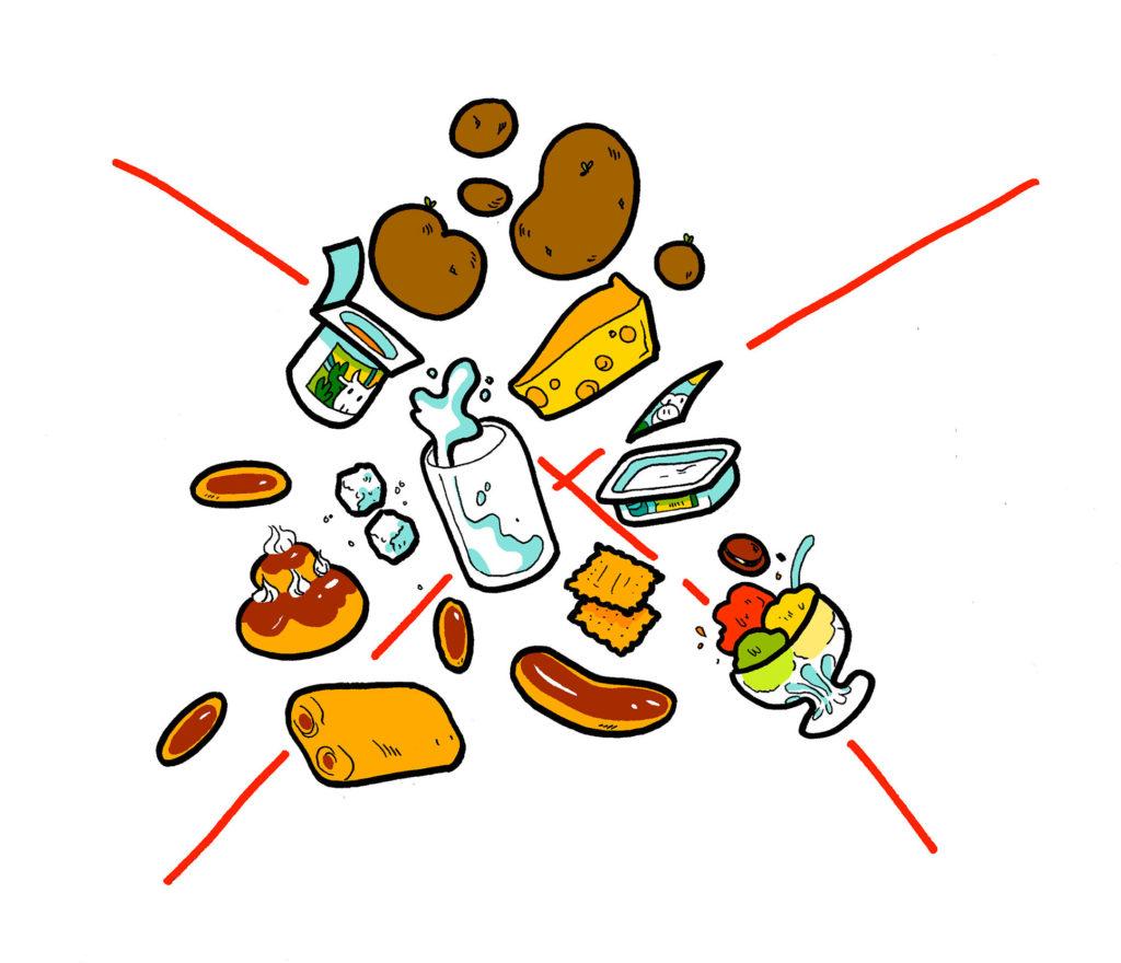 Liste des aliments toxiques pour l'intestin : sucre, céréales, lactose, gluten, OGM, etc.
