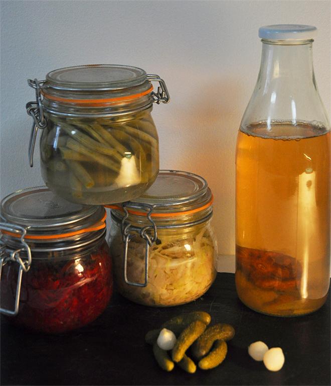 L'apéro probiotique : kéfir, pickles, marinades et lacto-fermentations au programme !